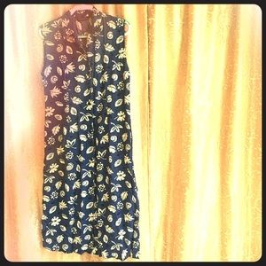 Vintage button down full length dress